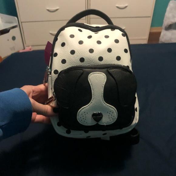 Betsey Johnson Handbags - Betsey Johnson polka dot puppy backpack